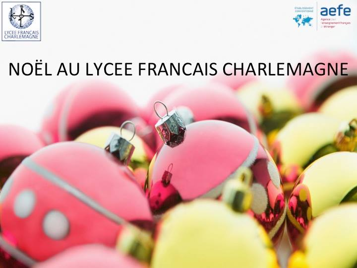 Noël au lycée Charlemagne