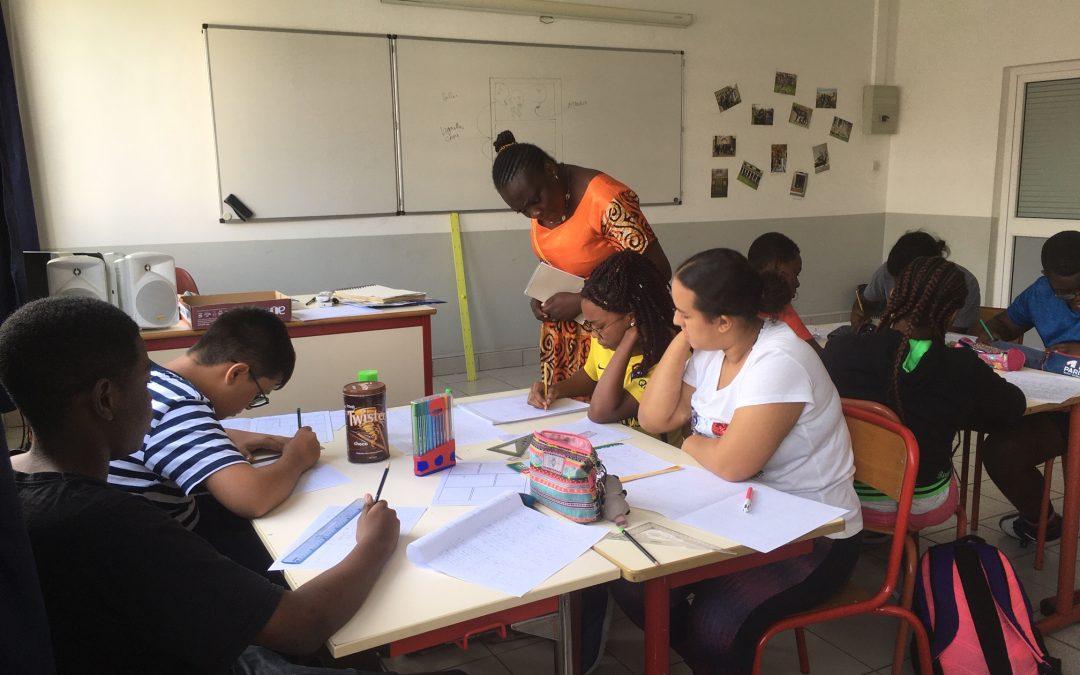 Le parcours artistique des classes de 3e avec l'artiste Jussie Nsana