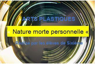 ARTS PLASTIQUES « Nature morte personnelle «