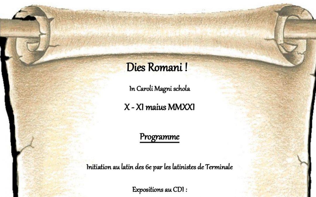 Journées Romaines : les 10 et 11 mai 2021